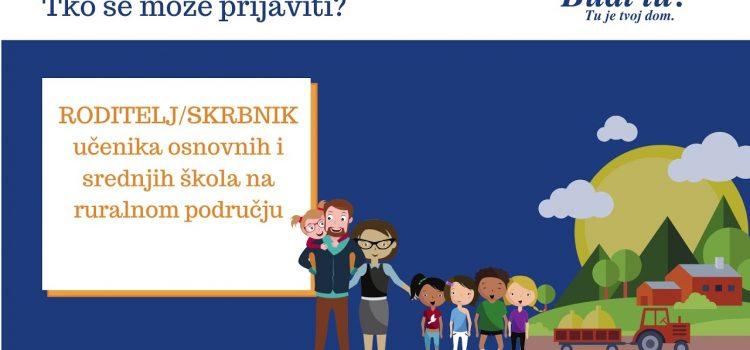 BUDI TU – TU JE TVOJ DOM / JAVNI POZIV za podnošenje prijava za dodjelu sredstava